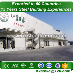Prefabricated Steel Warehouse by heavy steel framming of two story