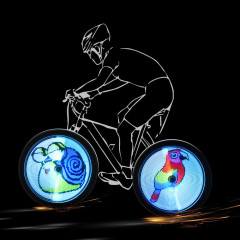 LED Decorated DIY Bicycle wheel Light