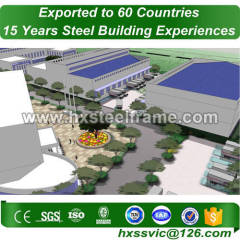 steel frame shop and steel structure warehouse CE approved export to Kinshasa