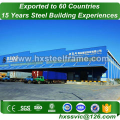steel frame storage and steel structure warehouse on sale installed in Poland