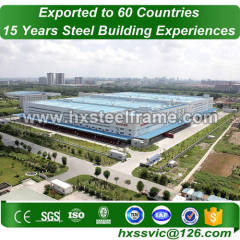 steel frame storage buildings and steel structure warehouse big-Span