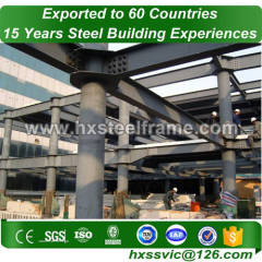 prefabricated residential buildings made of H section steel column with CE