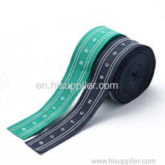 Jacquard Frosted Coated Embroidered tapes