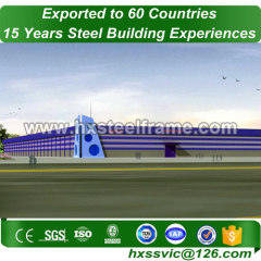 steel frame workshop buildings and steel structure warehouse SGS certified