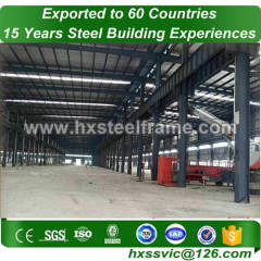 40x50 steel building and prefab steel buildings of fast delivery well blasted