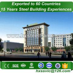residential metal buildings made of steel frame work ATSM standard nice welded