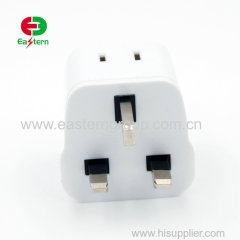 Hot Sale Powerful universal Euro/USA to uk plug adaptor travel adapter