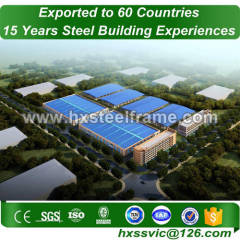 steel shed frame kits made of stell frame with ISO standard export to Turkey