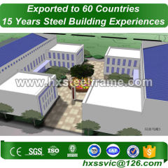 steel storage building kits made of high strength structural steel pre-built