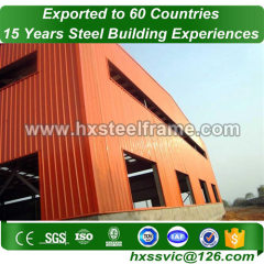 steel structure depots made of built up steel large-Span for Nouakchott client