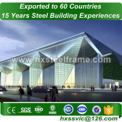 60x30 steel frame buildings and prefab steel buildings with ISO