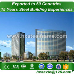 steel frame residential buildings made of steel rigid frame with SGS certificate