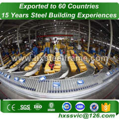 steel warehouse construction and Prefab steel warehouse on sale export to Oman
