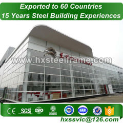 single slope steel building and metal building structure ISO verified