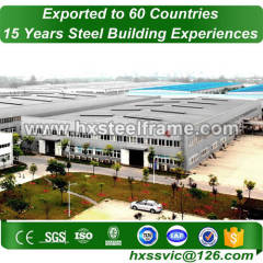 large span steel structures formed pre engineered construction to ISO code