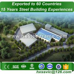 light gauge steel formed 50x60 metal building ISO9001 installed in Seoul