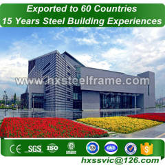 solid steel buildings and metal building structure with CE export to Ethiopia
