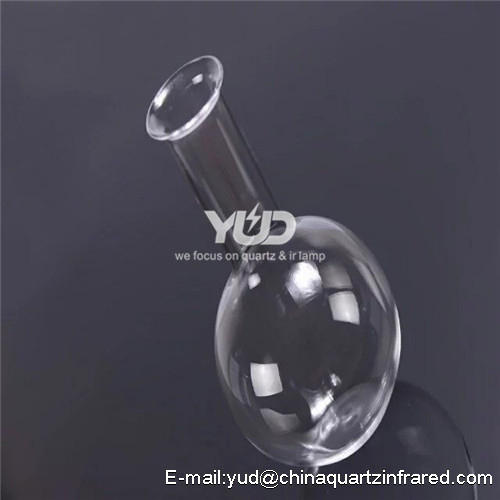all kinds of quartz multi-necked flask Customized quartz round bottom glass flask with high quality