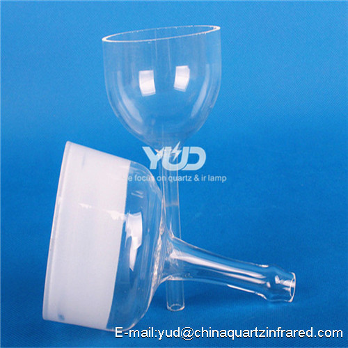 Clear glass separating funnel with switch quartz separating funnel A