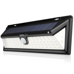 Solar Outdoor Patio 90LED with Motion Sensor and Wide Angle Wireless Waterproof Night Light for Yard Pathway Garden