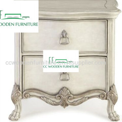 American bedside table classical solid wood bedside table nightstands storage