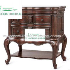 American bedside table classical solid wood bedside table yellow poplar bedside table end table
