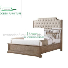 American country style birch wood bed farmhouse bed