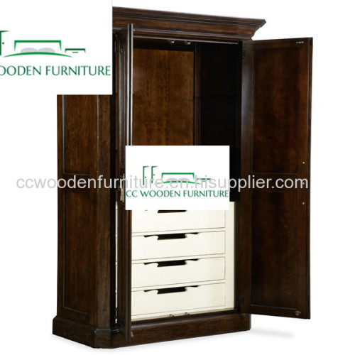 American pastoral style solid wood wardrobe amboyer armoire