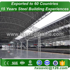 space frame structure building made of Primary steel with GB code well blasted