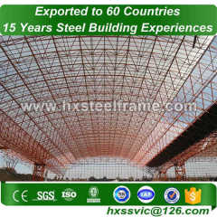 space steel structure building and space frame building pre-made sale to Dakar