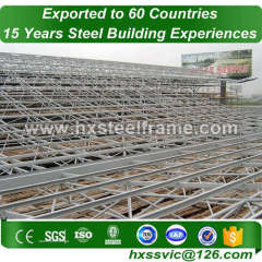 space steel structures building and space frame building with Long-life