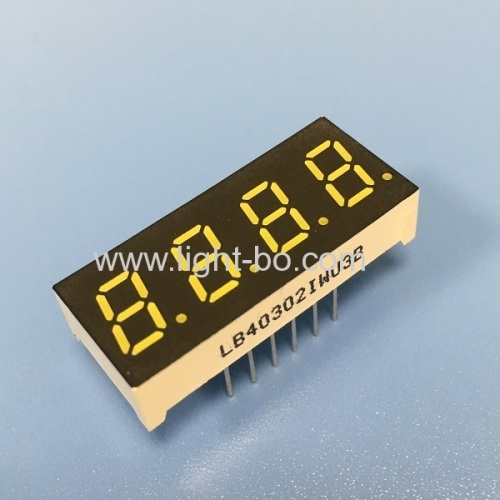Ultra white 4 digit 0.3  7 segment led display common anode for instrument panel