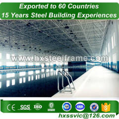 steel space frame building made of steel lattice structure of suitable price