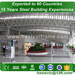 steel space frame structures building made of steelstructures at Africa area