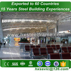 steel space truss building made of light metal fabrication low cost