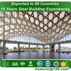 space frame structures construction made of stell frame with CE Mark