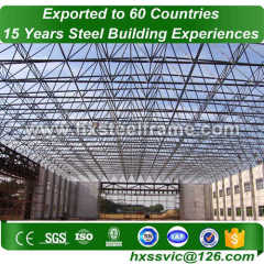 space frame construction and steel space frame structures with CE well painted
