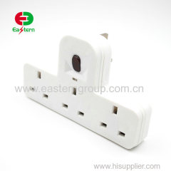 3way UK wall socket adapter with switch