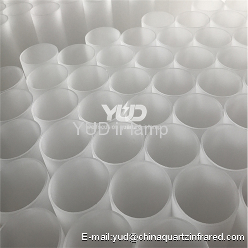 Fused silica quartz glass infrared heating tube
