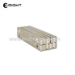 спеченный ndfeb сильный магнит зенковка блок магнит редкоземельный постоянный магнит никелированный пользовательский неодимовый магнит