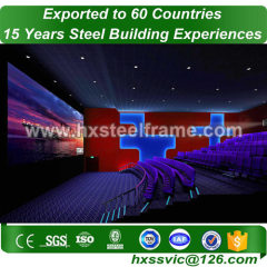 fabricated steel buildings made of steel light frame ISO9001 to Rome customer
