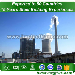 fabrication of steam power plant made of safety steel structures large-Span