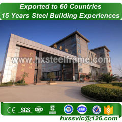 prefabricated classroom buildings by mild steel frame structure for importer in Africa