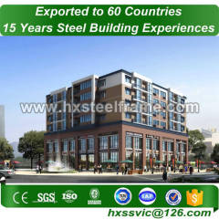 steel structure building made of peb structure lightweight to Tunisia market