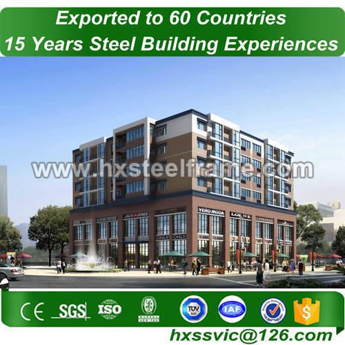 steel structure building made of light gauge steel low-cost nice erected