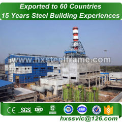 single slope metal building made of structural stee with ISO standard
