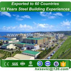 light steel structure building and prefab metal buildings CE verified