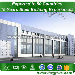 manufactured metal buildings and prefab metal buildings ISO9001 sale to Peru