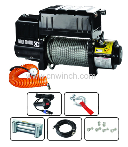 Air compressor electric winch