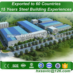 steel framed industrial buildings made of stell frame CE approved sale to Peru